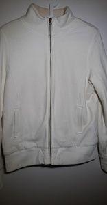 Old Navy Jacket Fleece Sweater White Size Large